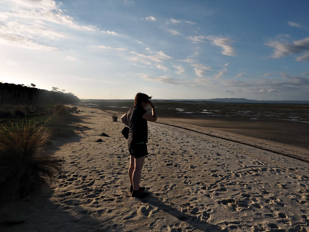 Audrey at Duck Point - Wilsons Promontory