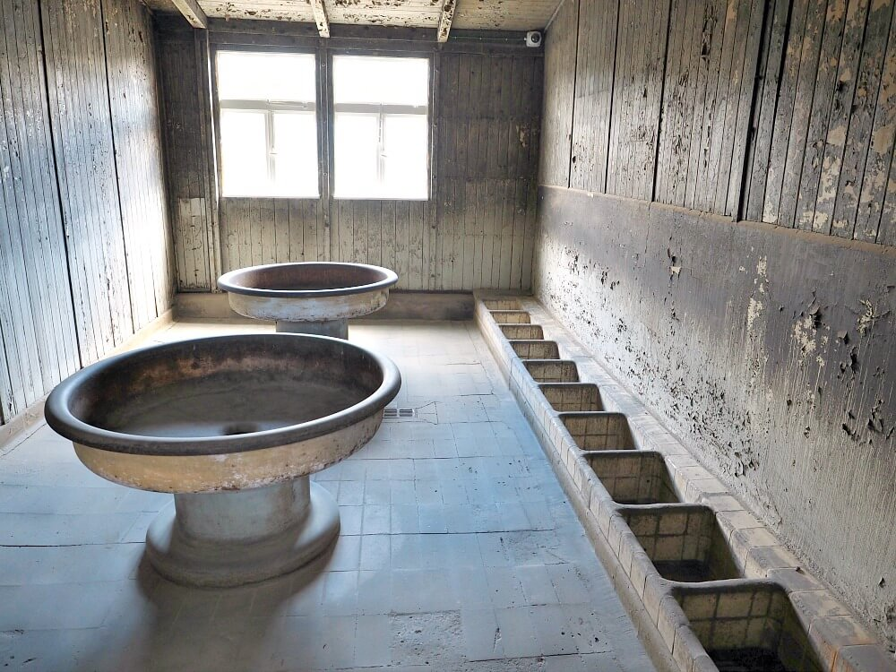 Prisoners' Bathroom - Sachsenhausen Concentration Camp