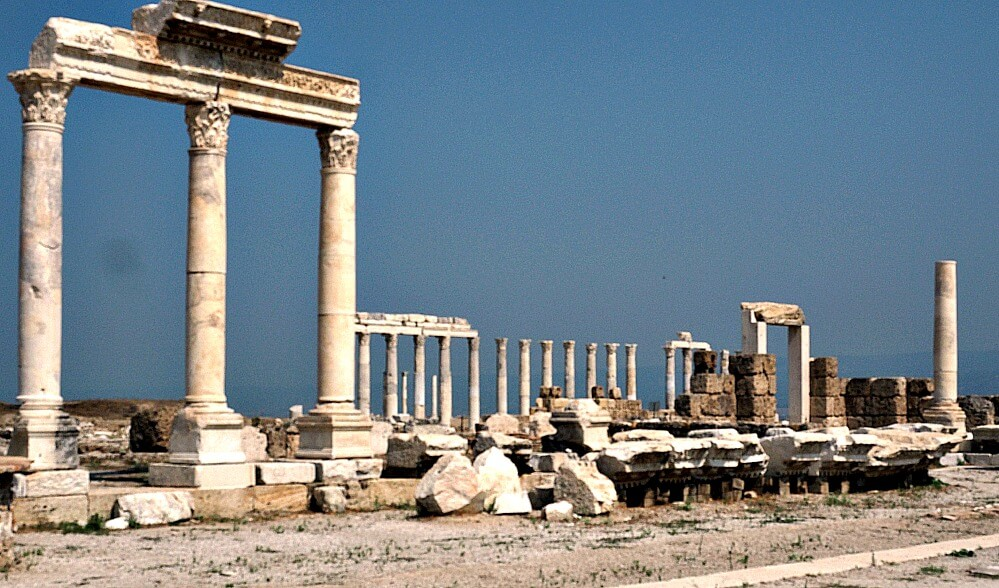 Columns and arches of Laodicea, Turkey