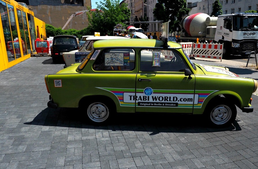 A Trabant car - Berlin Walking Tour