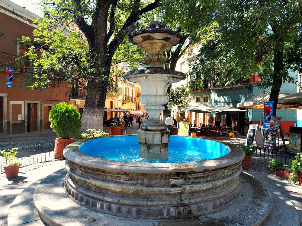 Fountain in a plaza Guanajuato