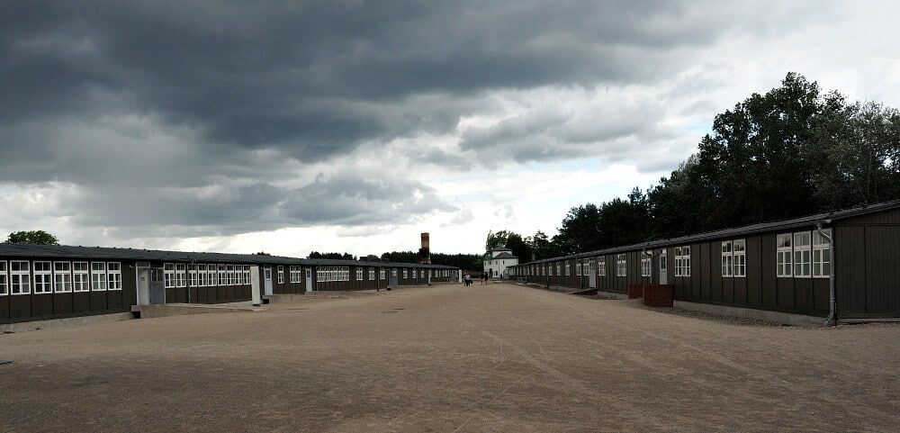 Barracks against a stormy sky - Sachsenhausen