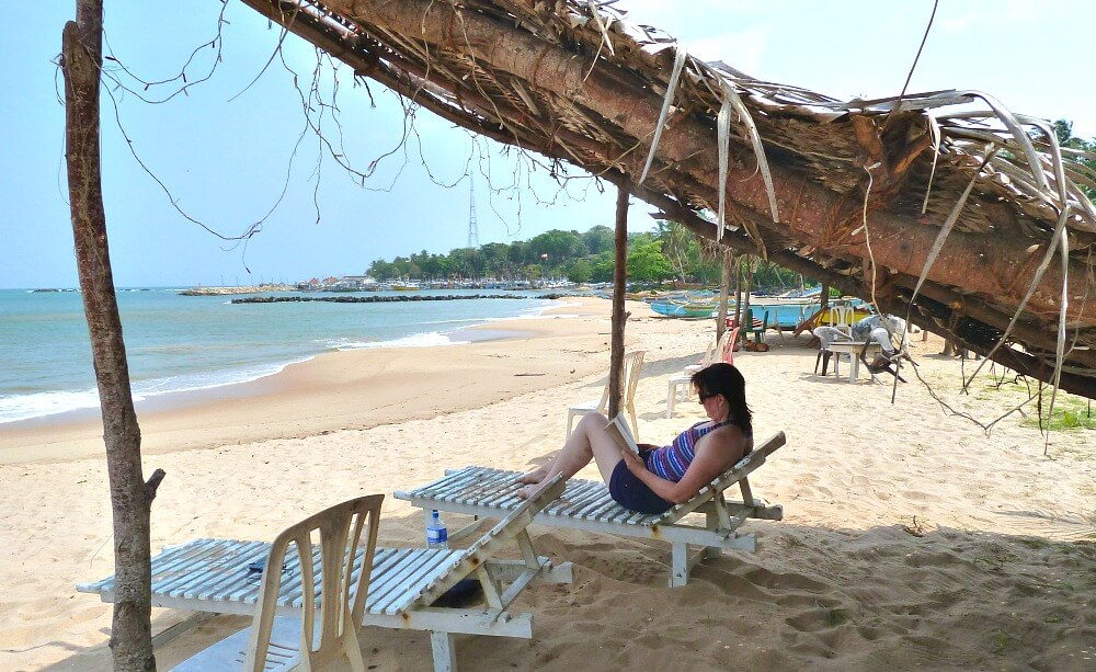 Relaxing on the beach in Sri Lanka