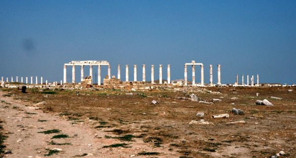 Row of columns Laodicea Turkey