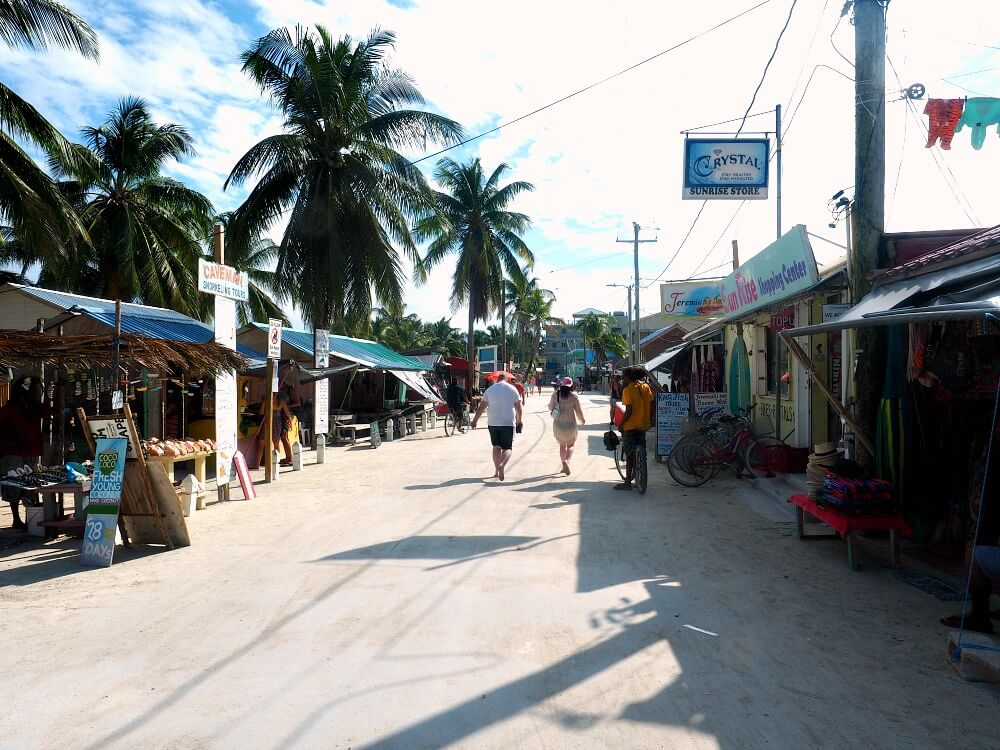 Sandy street in Caye Caulker