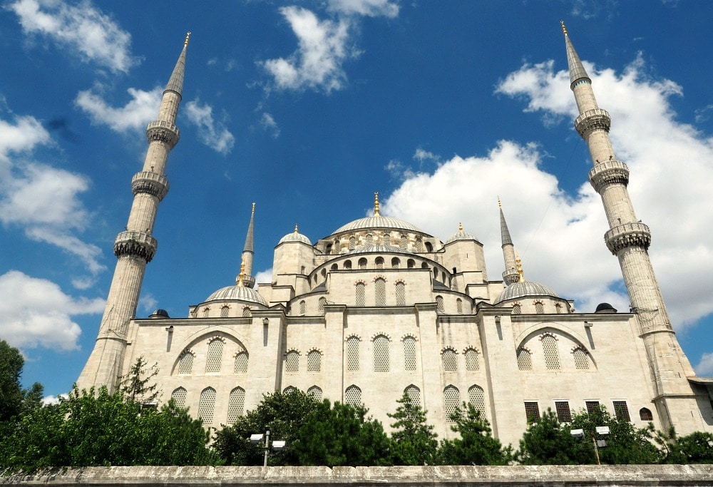 View of Blue Mosque from the side