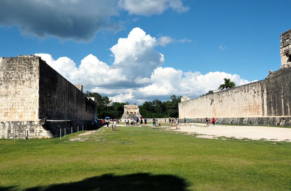The Ball Court in Chichen Itza