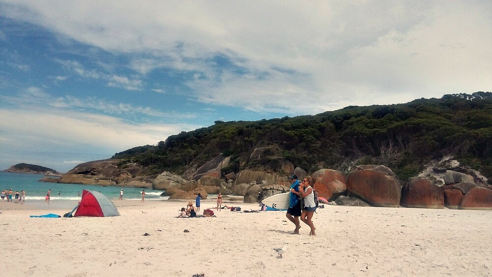 Surfers at Squeaky Beach - Wilsons Promontory