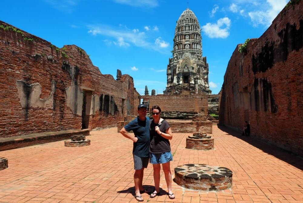 Us at Wat Ratchaburana - Ayutthaya Day Trip