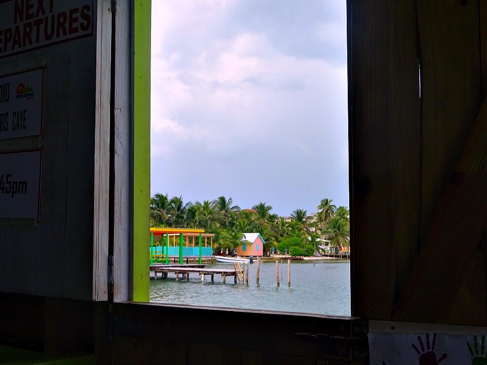 View from the Belize City ferry dock